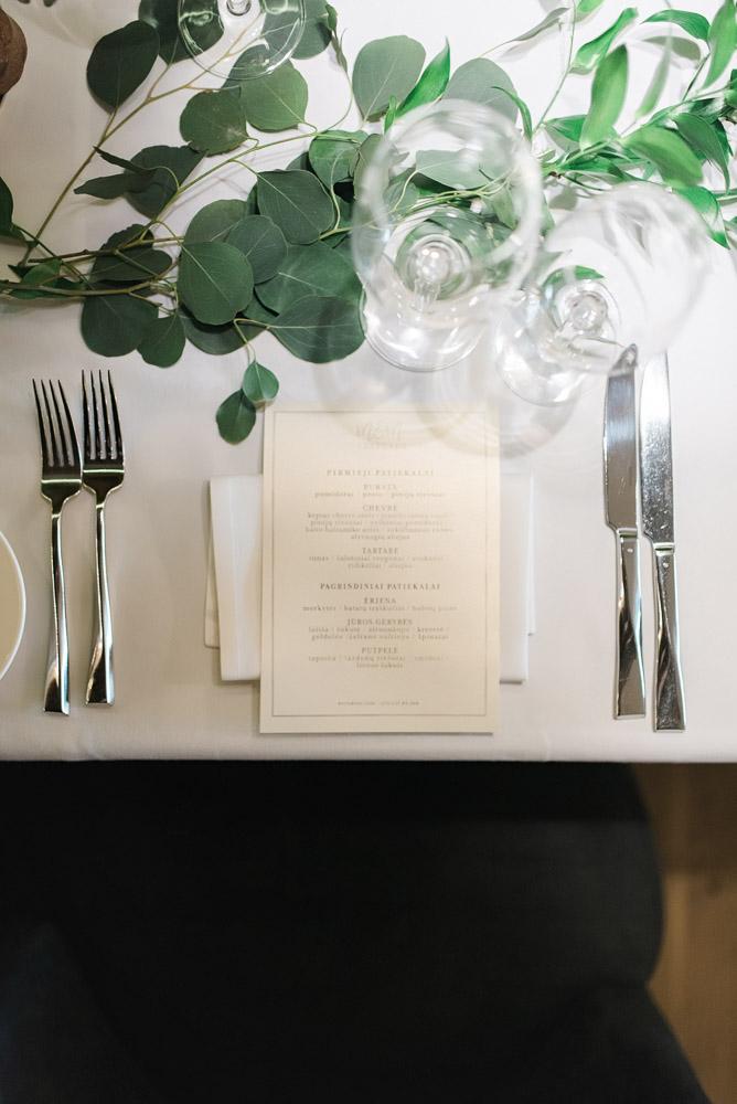 Vestuvių vakarienė Dia restorane