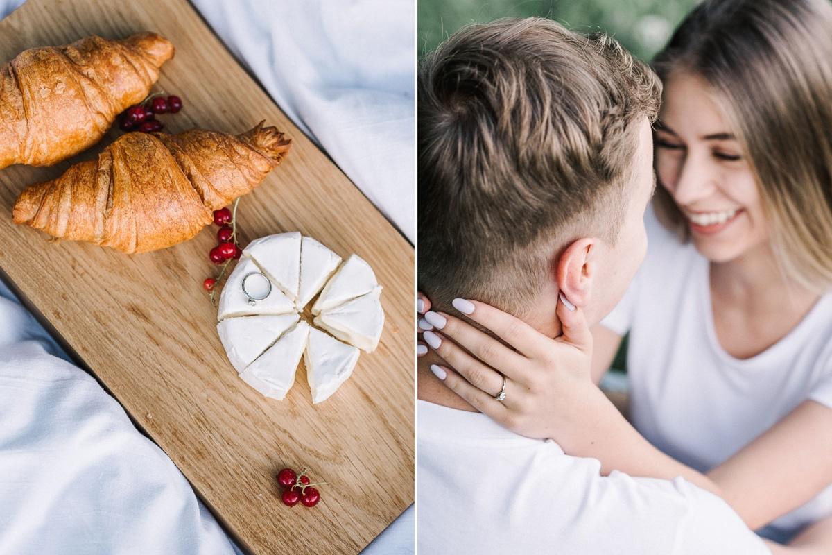 Poros priešvestuvine fotosesija, piknikas