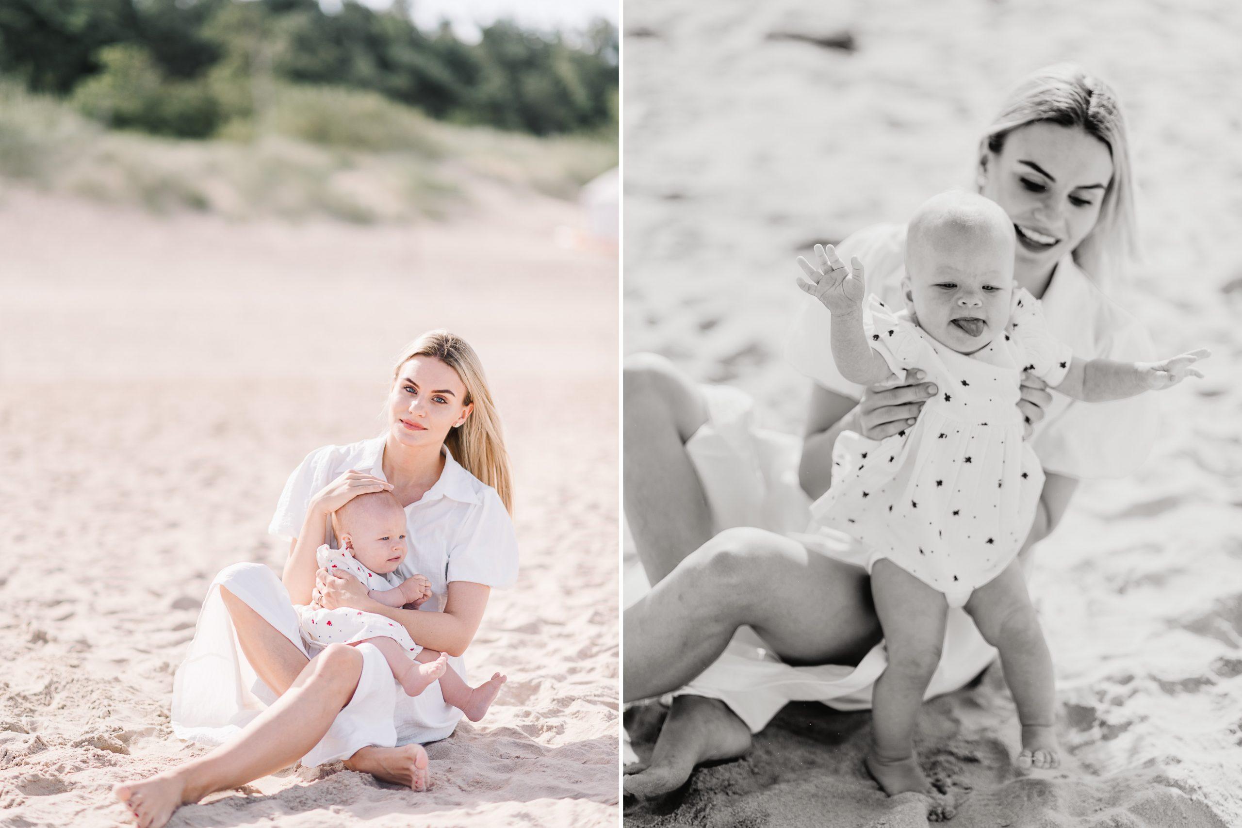 Mamos ir dukros fotosesija pajuryje