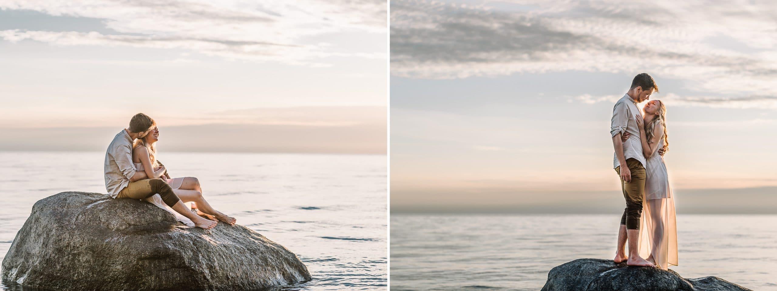Poros fotosesija prie juros Olando kepureje