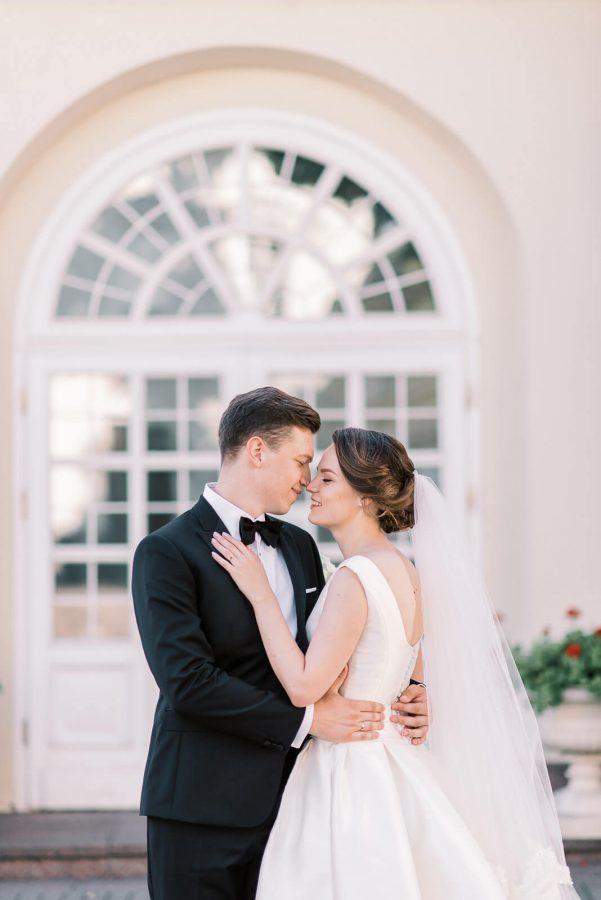 Vestuvių fotosesija prie prezidentūros