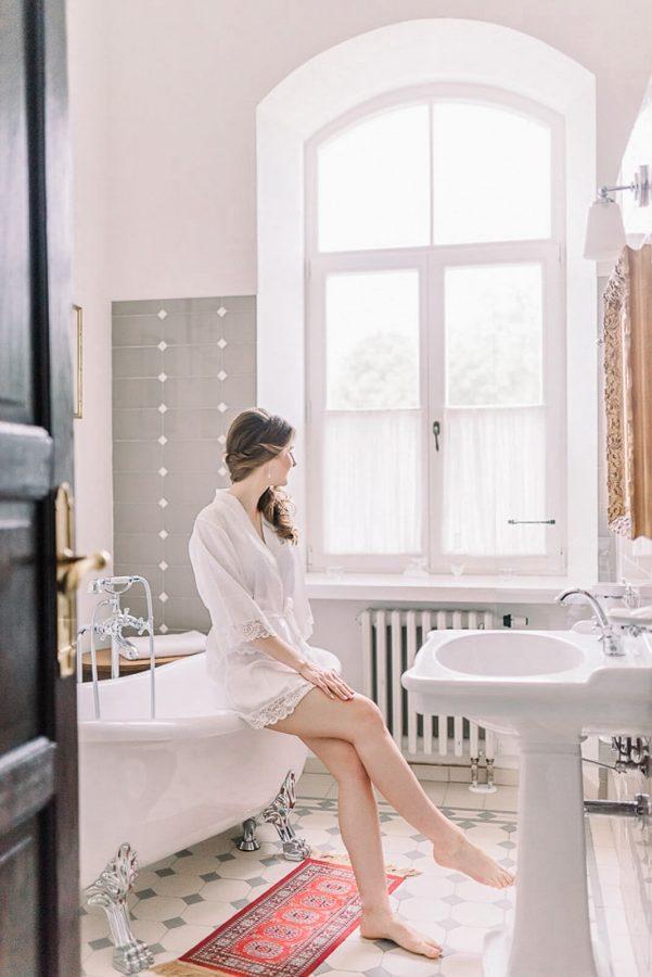 Nuotakos pasiruošimas Burbiškio dvaro vonioje